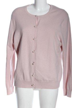 Ensemble en tricot rose moucheté style décontracté