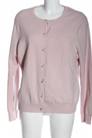 Knitted Twin Set pink flecked casual look