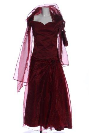 Gebreide twin set rood elegant
