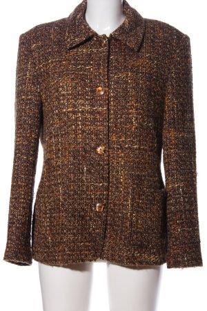 Blazer tejido marrón-naranja claro Patrón de tejido estilo «business»