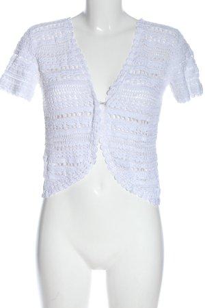 style by ewm Bolero lavorato a maglia bianco motivo a righe stile casual