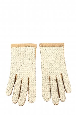 RSL Knitted Gloves gold-colored casual look