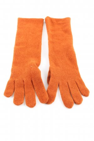 Knitted Gloves light orange casual look