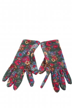 Knitted Gloves allover print casual look