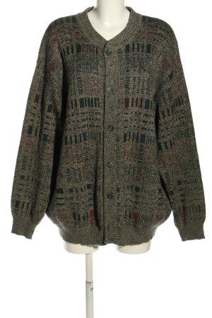 Cardigan brown-black check pattern casual look