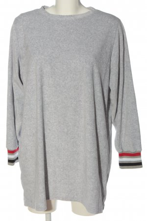 Robe en maille tricotées gris clair moucheté style décontracté