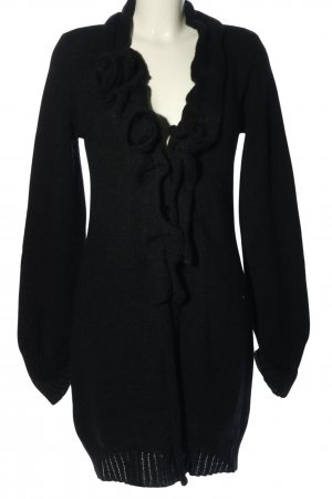Rosannaansaloni Knitted Coat black casual look