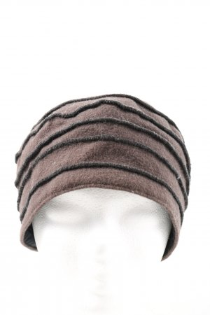 Knitted Hat brown-black casual look
