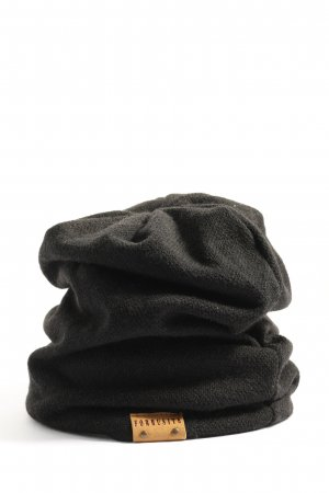 forbusite Chapeau en tricot noir style décontracté
