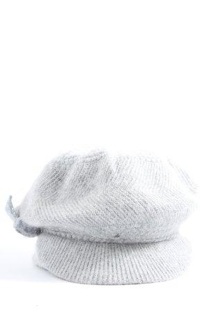 I love bijou x ltda Chapeau en tricot gris clair style décontracté