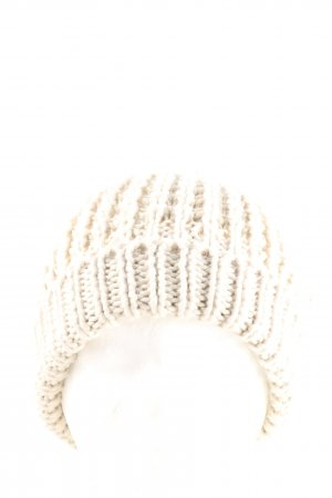 Knitted Hat natural white cable stitch casual look