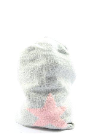 kurt koelin Gebreide Muts lichtgrijs-roze prints met een thema