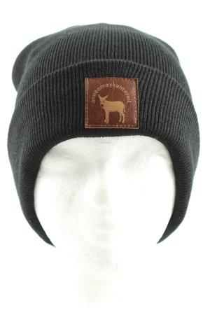 Sombrero de punto negro look casual