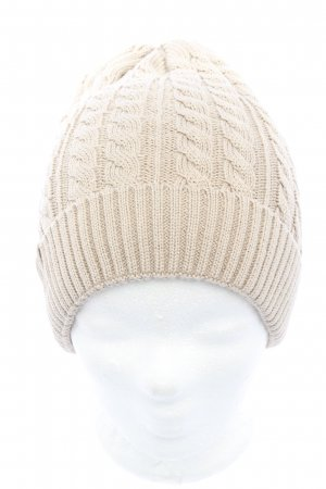 Knitted Hat natural white casual look