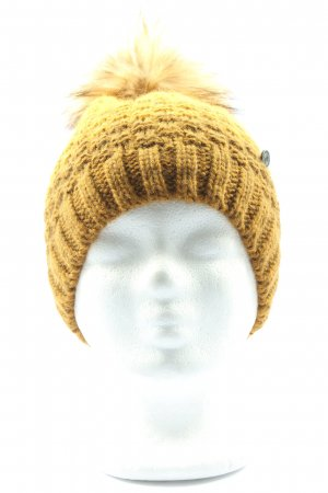 Knitted Hat light orange casual look