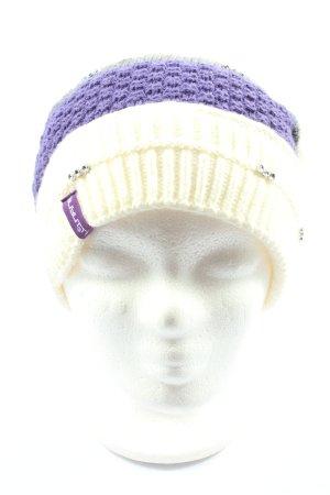 Chapeau en tricot motif rayé style décontracté