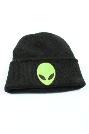 Chapeau en tricot noir imprimé avec thème style décontracté