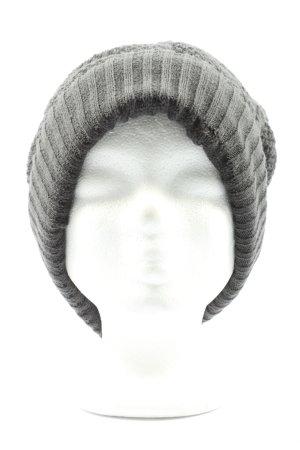 gil-design Chapeau en tricot gris clair torsades style décontracté