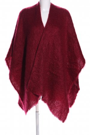 Strickponcho rot Casual-Look