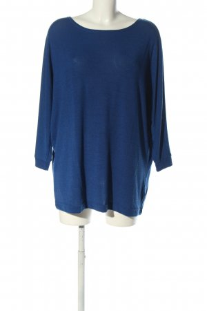 -8- Venice Knitted Sweater blue flecked casual look