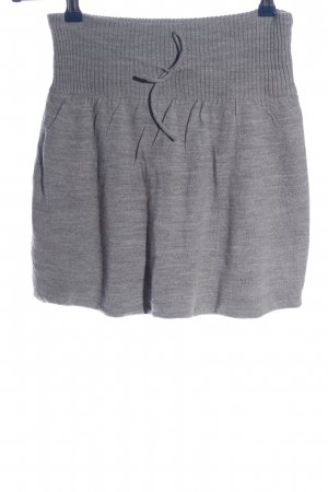 moodo Knitted Skirt light grey casual look