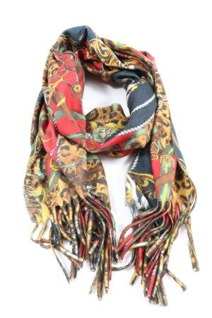 Écharpe en tricot motif léopard élégant
