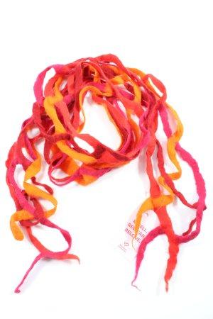 Écharpe à franges rouge-orange clair style décontracté