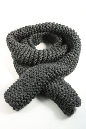 MUMS Écharpe en tricot gris clair torsades style décontracté