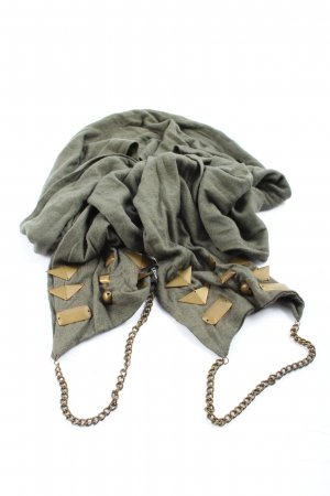 Jessica Di Netti Knitted Scarf khaki-gold-colored flecked casual look