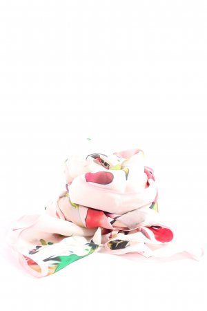 Prettystern Écharpe d'été rose motif abstrait style d'affaires