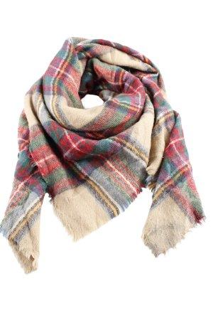 Écharpe en tricot motif à carreaux style décontracté
