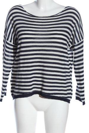 Zauberstern Strickshirt weiß-schwarz Streifenmuster Casual-Look