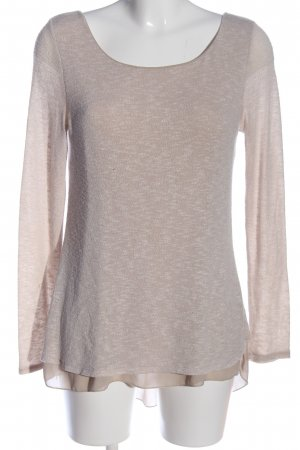 Long Blouse cream-natural white flecked casual look