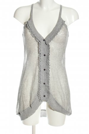Knitted Top light grey flecked casual look