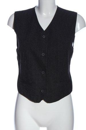 Tiffany & Tomato Anzugweste schwarz Allover-Druck Business-Look