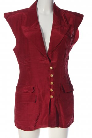 Gilet rosso stile casual