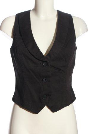 Waistcoat black casual look