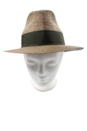 Cappello di paglia marrone-nero stile casual
