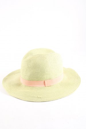 Achilleas Straw Hat natural white-pink casual look