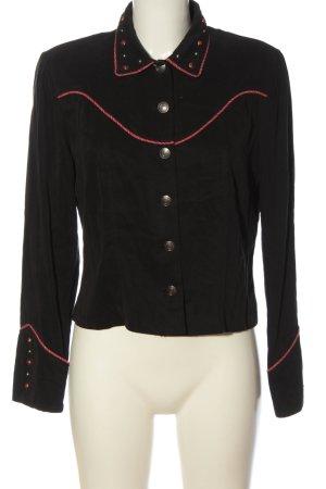 Marynarka dresowa czarny-czerwony W stylu casual