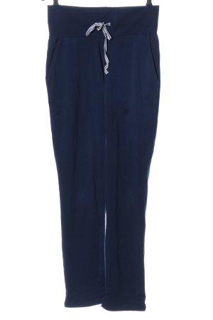 Pantalone fitness blu stile atletico