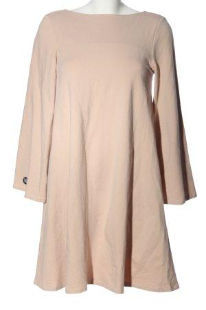 Vestido de tela de sudadera crema look casual