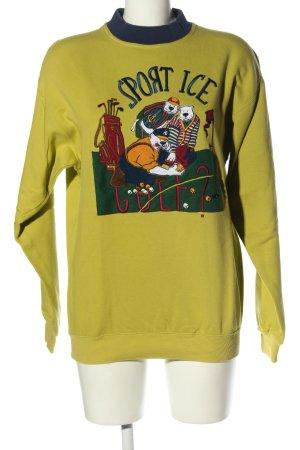 Sweatshirt Motivdruck Casual-Look