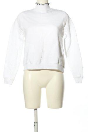 Sweatshirt weiß-schwarz Casual-Look