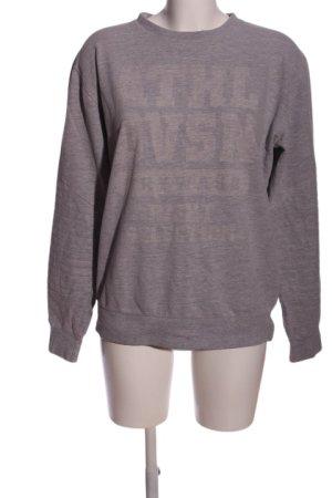 Sweatshirt hellgrau meliert Casual-Look