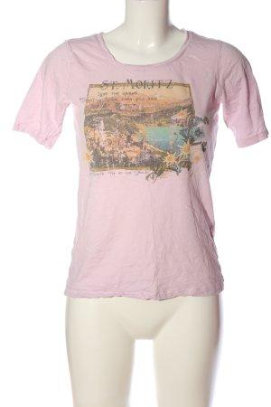 T-Shirt pink Motivdruck Casual-Look