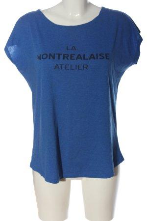 titaness T-Shirt blau Schriftzug gedruckt Casual-Look