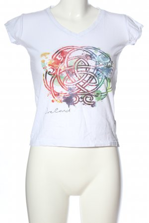 T-Shirt abstraktes Muster Casual-Look