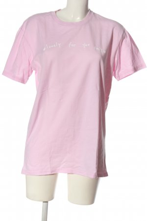 Salem7 T-Shirt pink-weiß Motivdruck Casual-Look