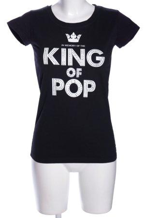 Legends T-Shirt schwarz-weiß Schriftzug gedruckt Casual-Look